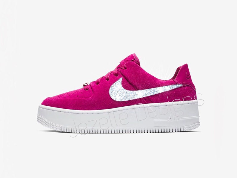newest eb6db 67ff7 Bling Nike Women s Air Force 1 AF1 Sage XX Low Casual   Etsy