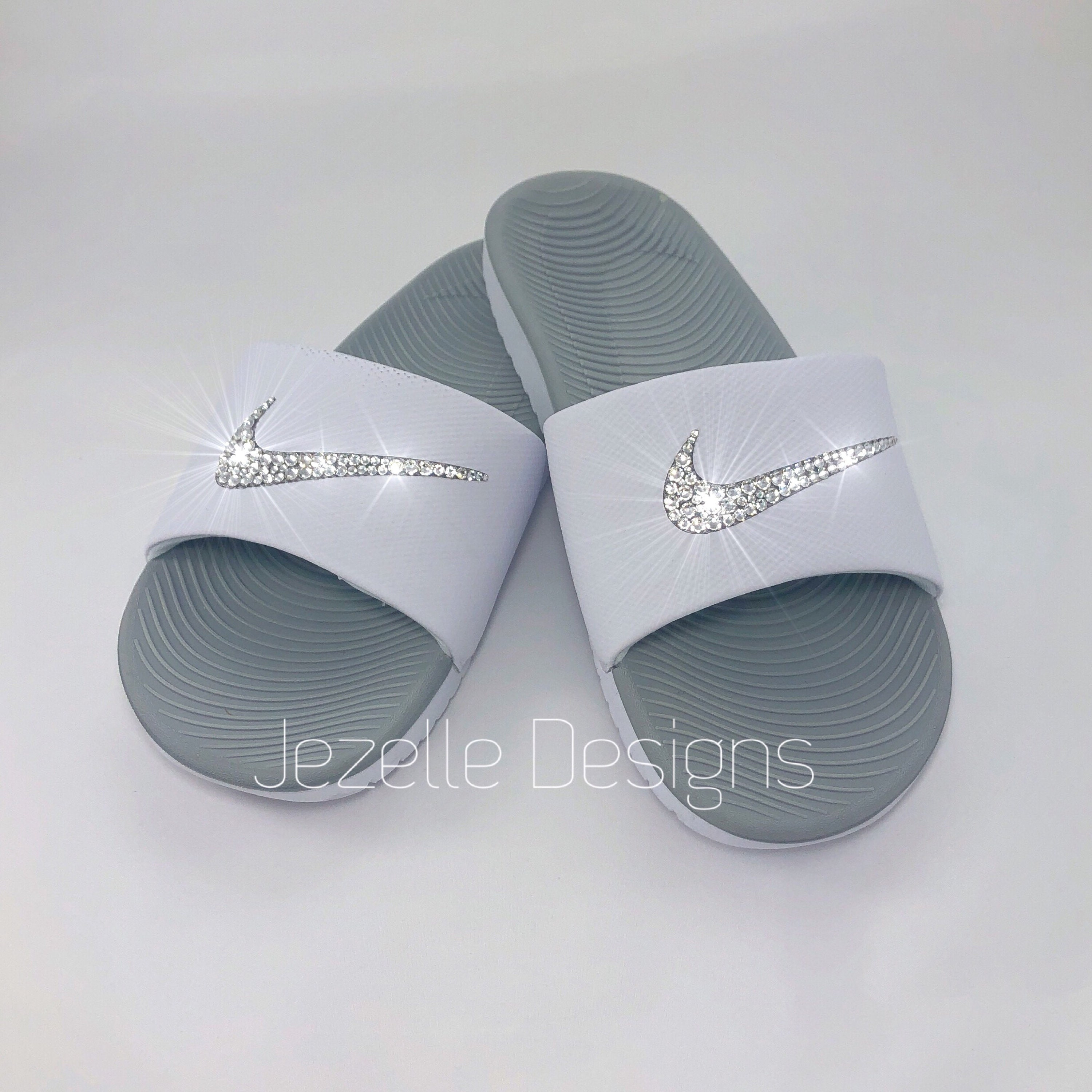 756f64671d706 Bling Nike SolarSoft Slide Sandals Custom Hand Jeweled w
