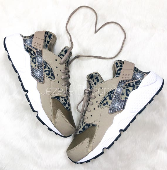 5d7c73c5adc3c Last Call Swarovski Nike Air Huarache Run Ultra Animal Print