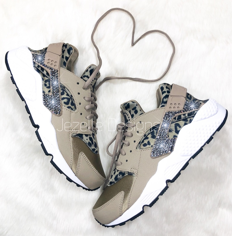 promo code e8b38 6f49a Last Call Swarovski Nike Air Huarache Run Ultra Animal Print   Etsy