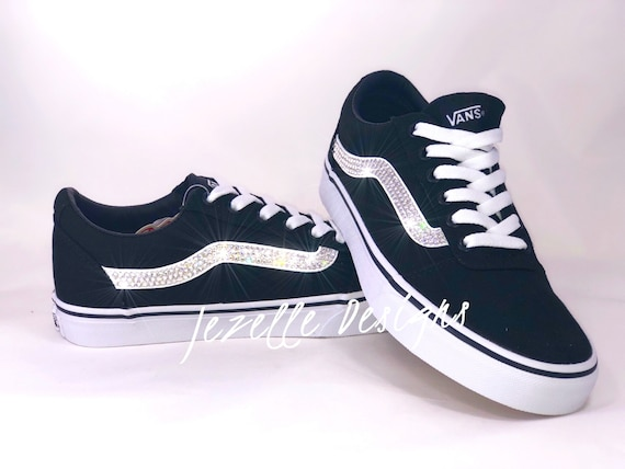 7b823629296c6 Womens Bling Vans Old Skool Skate Shoe Customized With Swarovski Crystals  by Jezelle Designs