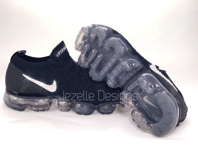 sports shoes 2767e 5f360 Swarovski femmes Nike Air VaporMax Flyknit 2 en noir   Etsy