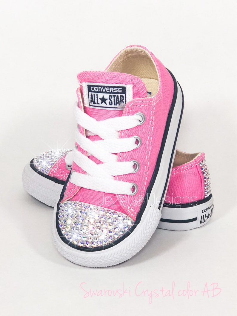 f01502588557 Bling Baby Shoes in Pink Genuine Swarovski Crystal Bedazzled