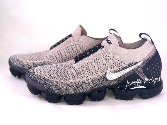performance sportswear wholesale great deals Swarovski Nike Air VaporMax Flyknit MOC 2 Running Shoes Custom Hand Jeweled  w/ Swarovski Crystals - Bling Nike Shoes