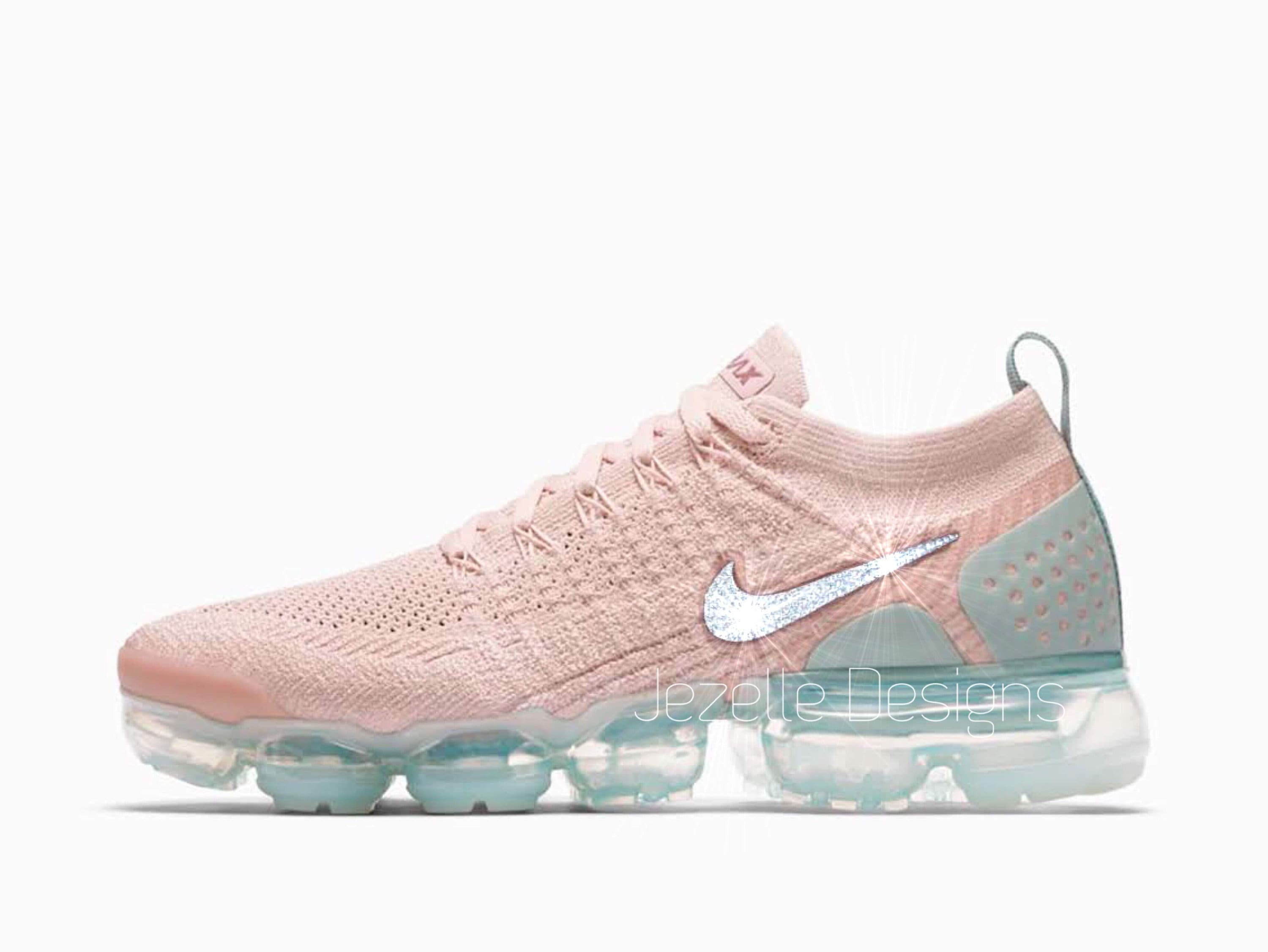 low priced aa2c4 b7b7a Swarovski Nike Womens Air VaporMax Flyknit 2 in Mauve Customized With  Swarovski Crystals Bling Nike Shoes