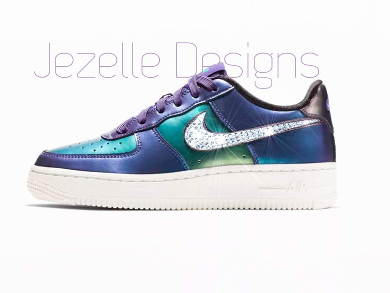 Swarovski Nike Air Force 1 LV8 for Kids and Women Customized  2fc34ebe9