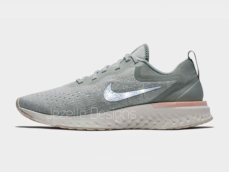 new arrival a39ad b38ad Swarovski Nike Odyssey React Running Shoes Custom Hand   Etsy