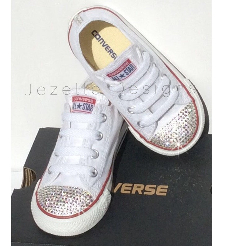 3f72d67ea Bling Converse Kids Shoes Custom Hand Jeweled with Genuine