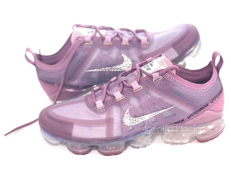 watch b025d 2e304 Swarovski Nike Air VaporMax 2019 Running Shoes in PLUM - Limited Supply!!  Customized with Swarovski Crystals, Bling Nike Shoes Ghost Aqua