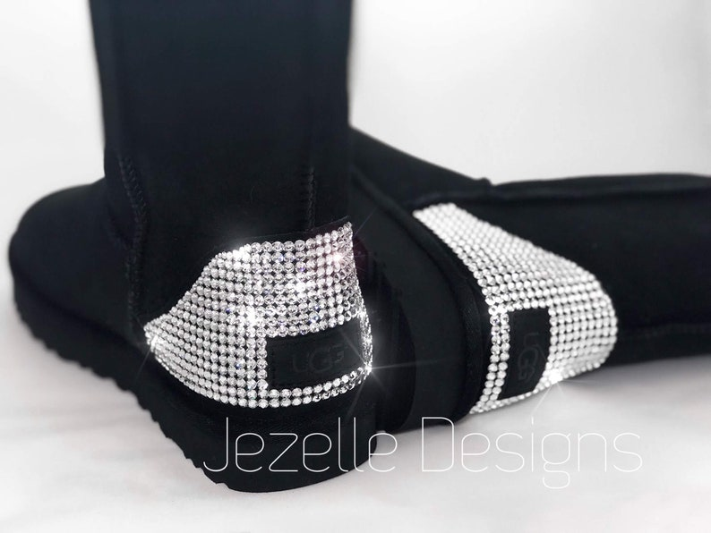 c2aaaa3706c CLASSIC Short Swarovski Uggs Custom Hand Jeweled w/ over 1300 SWAROVSKI  Crystals, Authentic Ugg Boots, Personalized Gifts, Ships FREE!