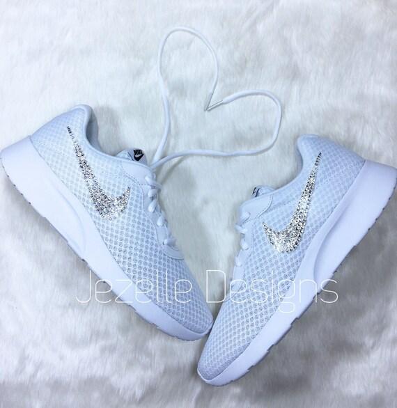 435d025f2298f0 Bling Nike Tanjun Women s Hand Jeweled Swarovski Crystal