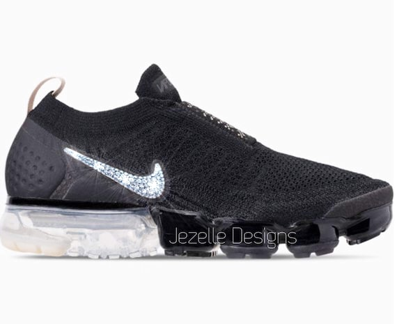 new concept fda80 0365b Swarovski Nike Air VaporMax Flyknit MOC 2 Customized With   Etsy