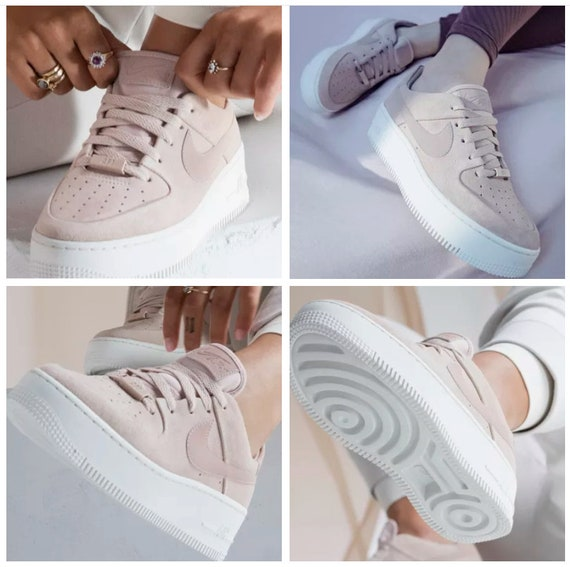 Swarovski Nike Women's Air Force 1 AF1 Sage XX Low Casual Scarpe personalizzate con Cristalli Swarovski, Scarpe Bling Nike