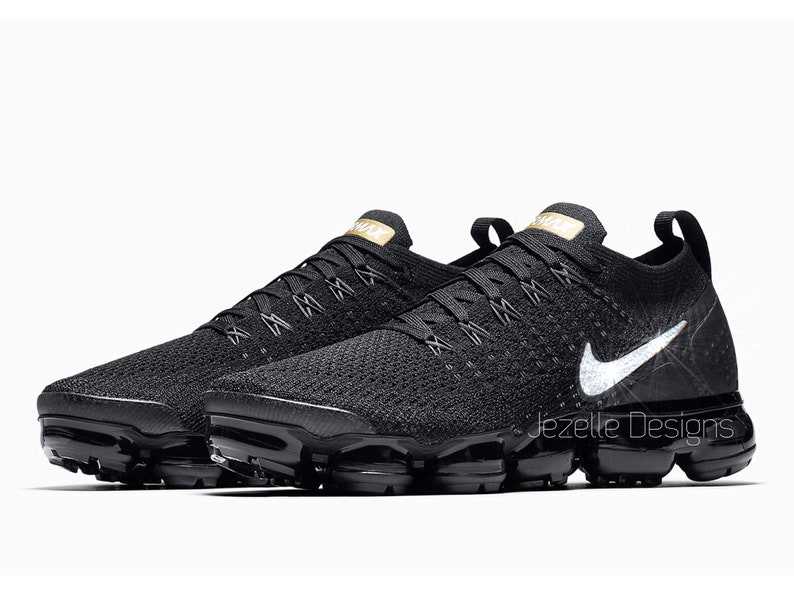 0c3b97f4c0d5 Swarovski Nike Womens Air VaporMax Flyknit 2 in Black