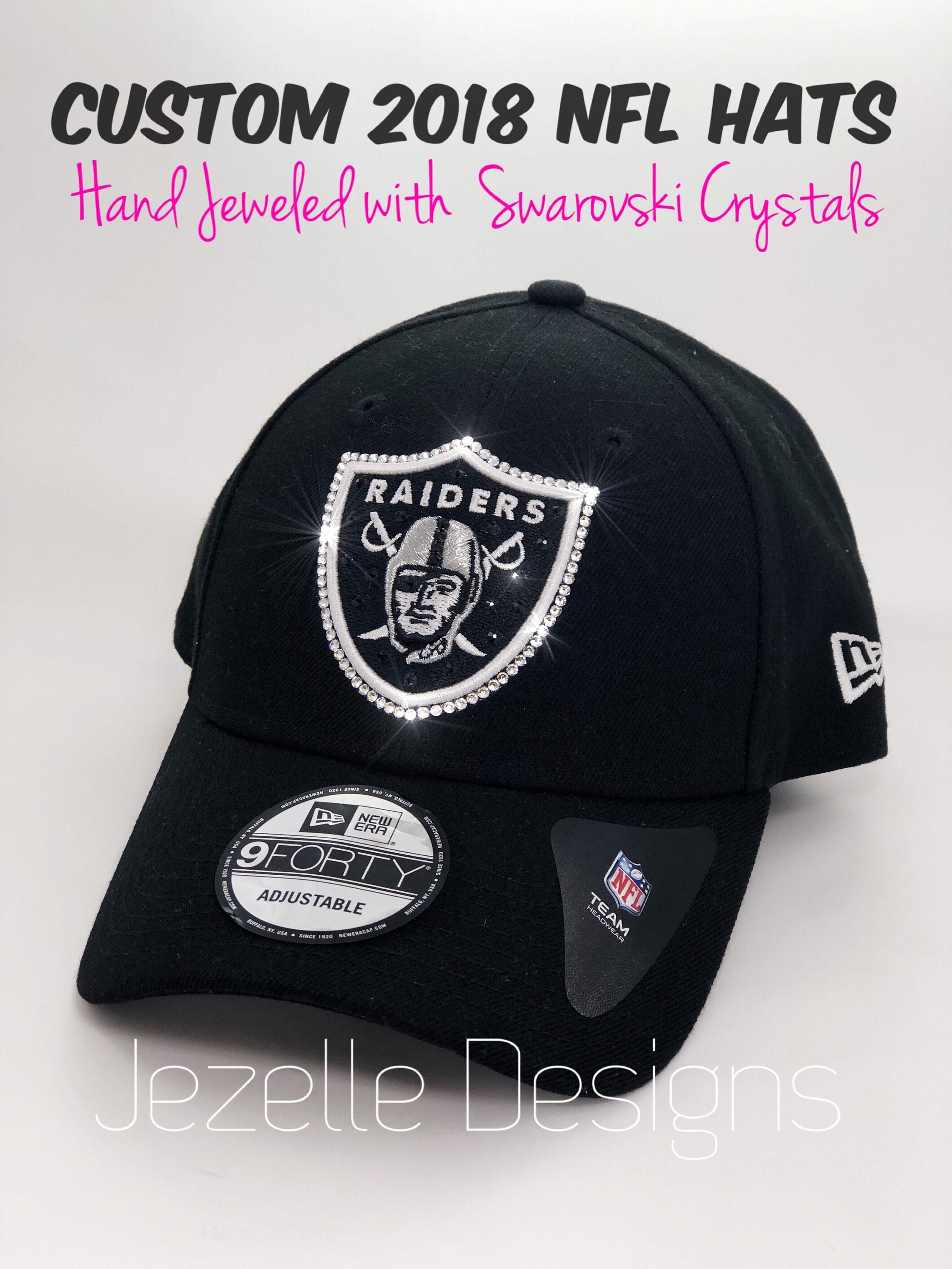 NFL Blinged Out Hat Oakland Raiders Bling NFL Cap w   2df0d7d206a