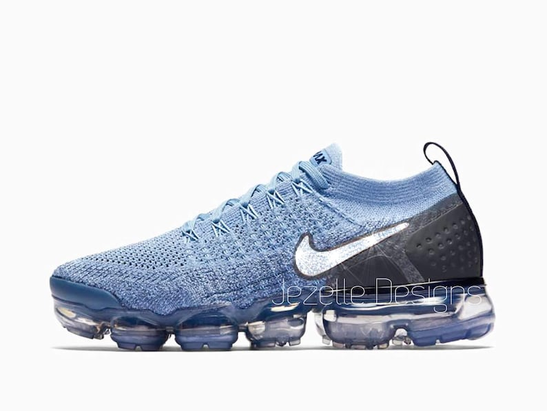 653156a5fb581 Swarovski Nike Womens Air VaporMax Flyknit 2 in Blue