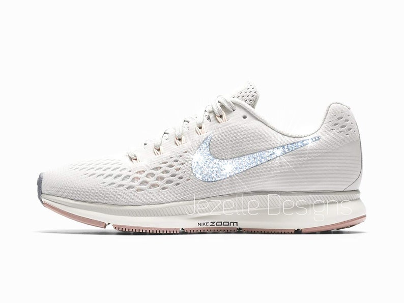 68d12f130eb2 Swarovski Nike Air Zoom Pegasus 34 Custom Hand Jeweled with