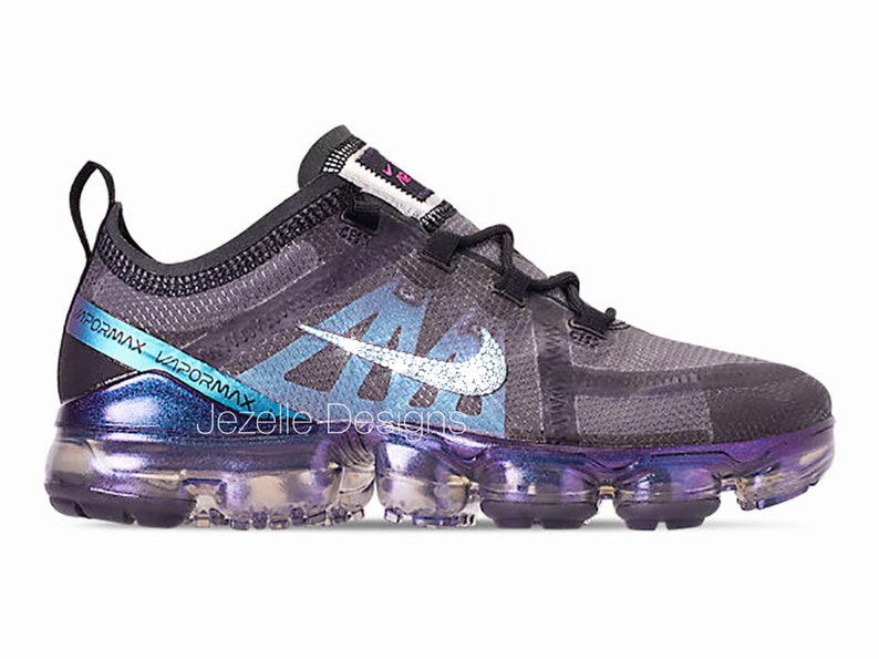 ca145349a0 Black Swarovski Nike Air VaporMax 2019 Brand NEW Customized | Etsy