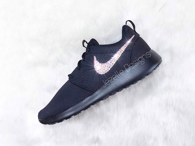 28f89094c2c3 BLING Nike Roshe One Shoes Customized with Swarovski Crystals