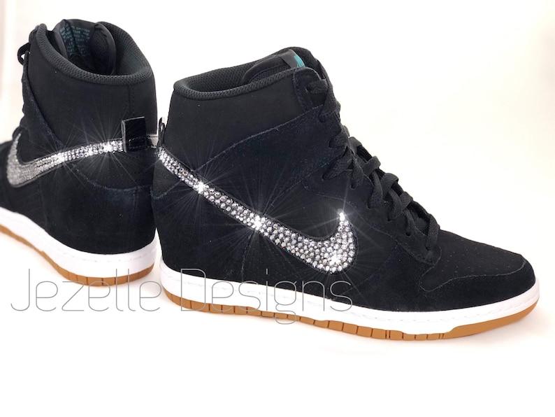 size 40 ba36b 79add Swarovski Nike Women s Dunk Sky Hi Essential Wedge   Etsy