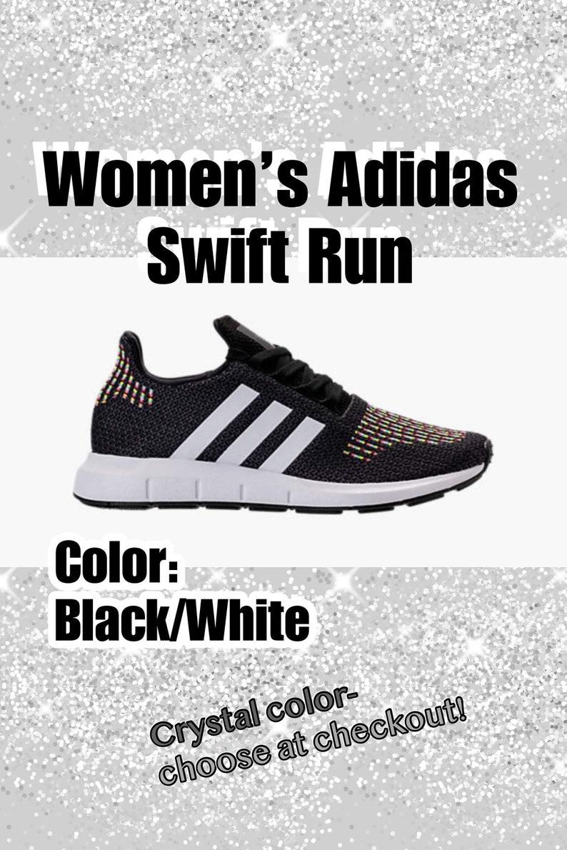 601bf02422e9 Bling Adidas Swift Run Primeknit Casual Shoes for Women Custom