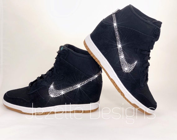 Swarovski Nike Women s Sky Hi Wedge Sneakers Nike Dunk  2751589c6