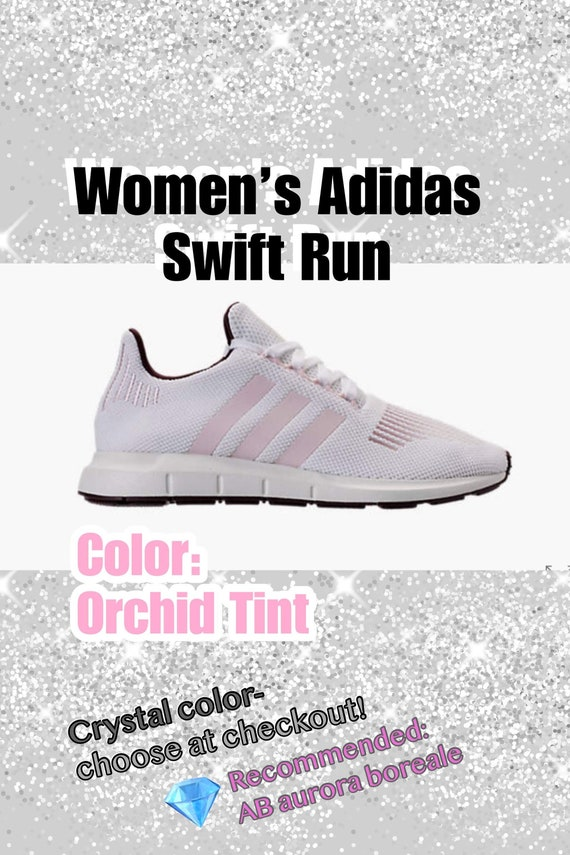 e10861c65d4d Bling Adidas Swift Run Primeknit Casual Shoes for Women Custom