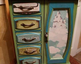 Repurposed Fairy Tale 5 Drawer Jewelry Box