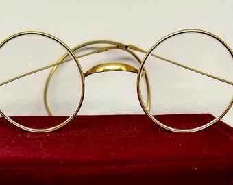 6065cb348d0 Child s 14k Antique spectacles   eyeglasses