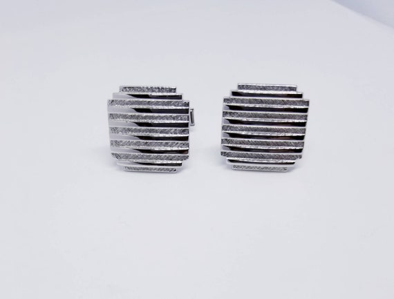 #1950711 RP on Silver Vintage Cuff Links Pat