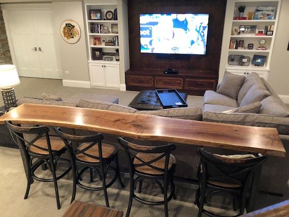 Strange Live Edge Sofa Table Home Bar Table Machost Co Dining Chair Design Ideas Machostcouk