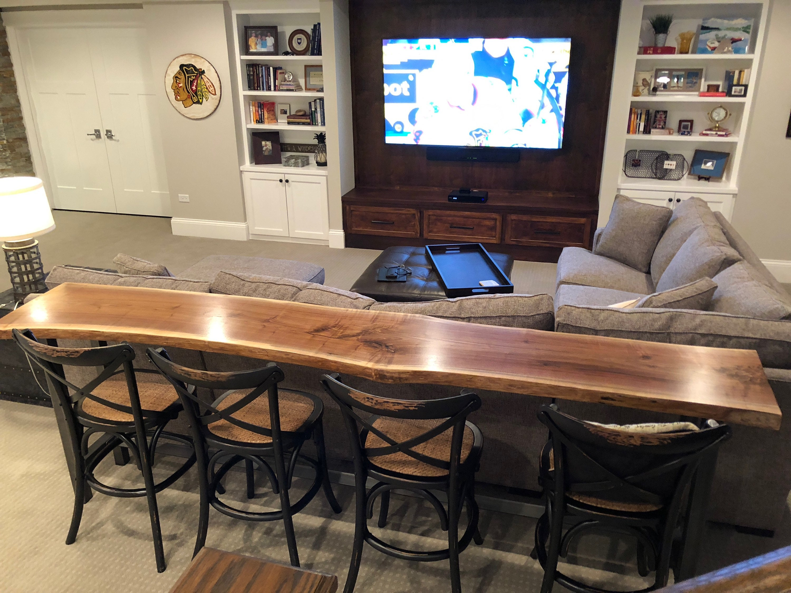 Charmant Live Edge Sofa Table   Home Bar Table