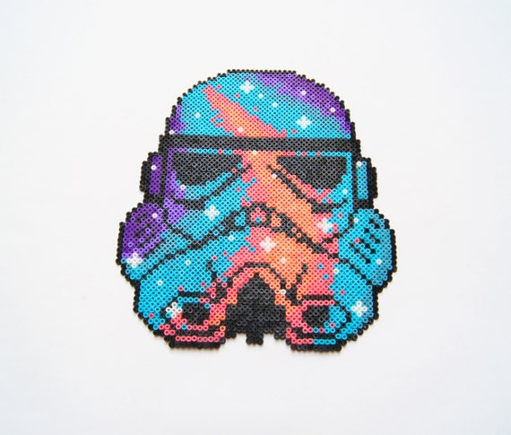 Ready To Ship Galaxy Star Wars Stormtrooper Perler Beads Art Hama Beads Wall Decor Pixel Art Gift For Him Star Wars Collectibles