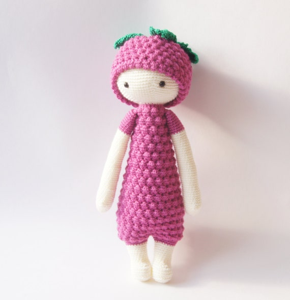 Haak Speelgoed Amigurumi Doll Lalylala Doll Roze Paars Toy Etsy