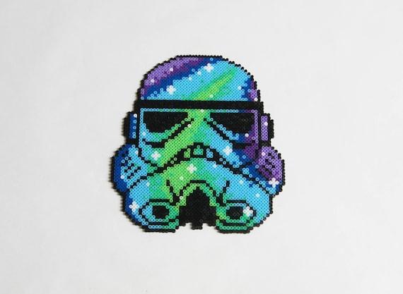Prêt à Expédier La Galaxie Star Wars Stormtrooper Perler Beads Art Perles Hama Décoration Murale Perle De Fusible Pixel Art Cadeau Pour Lui