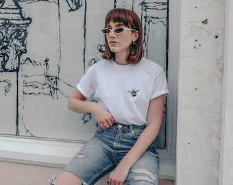 Baby bee Embroidered White t-shirt
