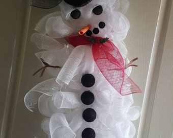 Mesh Snow woman Wreath