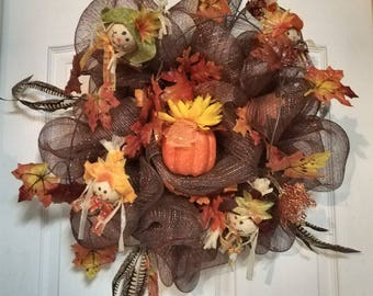 Small fall wreath