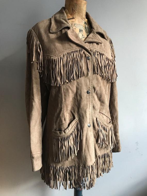 Vintage 1960's Suede Jacket, 1960s Tassel Jacket,