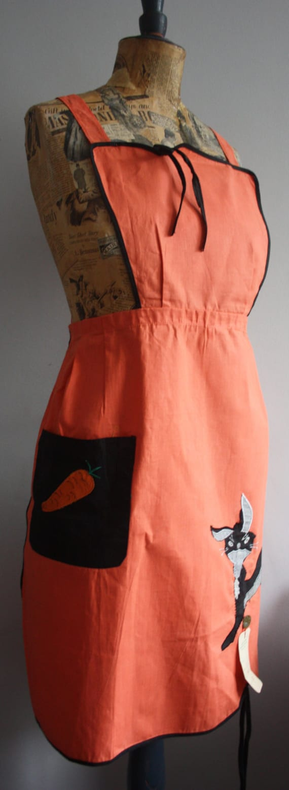 Vintage Novelty Apron, 1940's Apron, Deadstock Apr