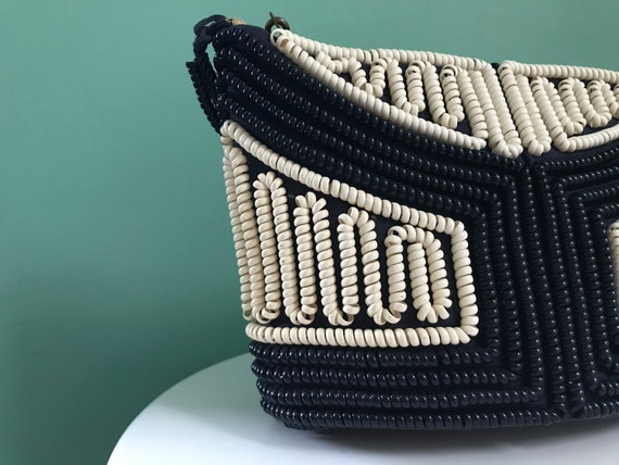 Vintage 1940's telephone cord handbag, rare 1940s