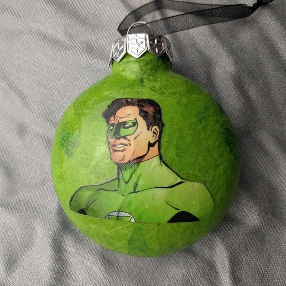 Upcycled Green Lantern Christmas Ornament - Upcycled Green Lantern Christmas Ornament Etsy