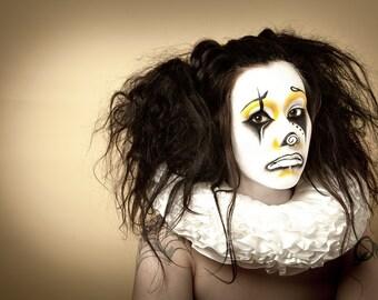 A4 PRINT sad clown Joanna Strange modelling