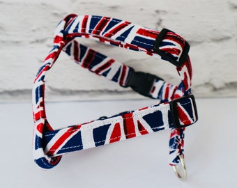 dog harness union jack dog harness. Made to measure, adjustable dog harness.