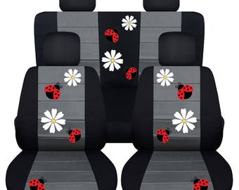 Ladybird Car Seat CoversAny Middle Colour InsertWe Make For All Makes And Models Of Cars