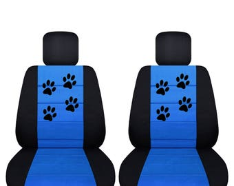 Paw Prints Car Seat CoversAny Middle Colour InsertNEW Tiffany BlueWe Make For All Makes And Models Of Cars