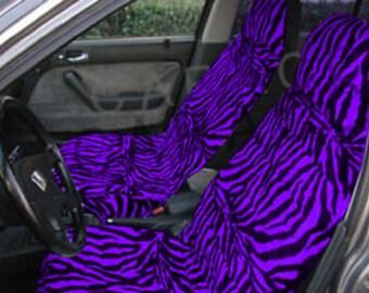 Purple Zebra Car Seat CoversMany ColoursAll Cars