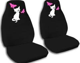 Cat Butterflies Car Seat CoversMany ColoursAll Cars