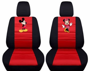 Mickey Minnie Car Seat CoversAny Middle Colour InsertWe Make For All Makes And Models Of Cars