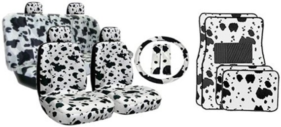 Black White Cow Print Car Seat Coversmade For All Cars